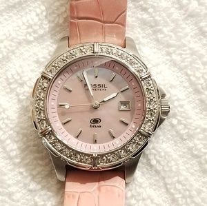 Fossil Pink Watch Mother of Pearl Dial Swiss Parts